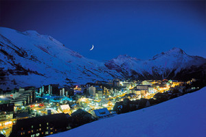 Wioska w Alpach