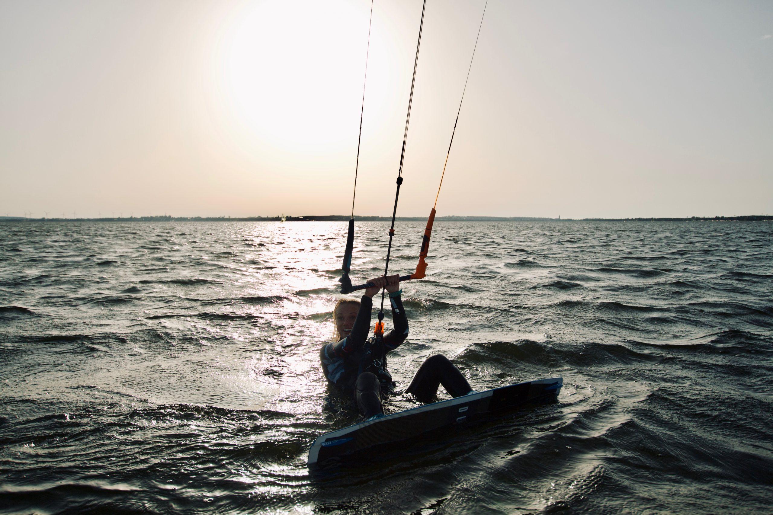 kitesurfing start z wody